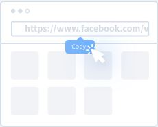 1st Step to download Facebook video