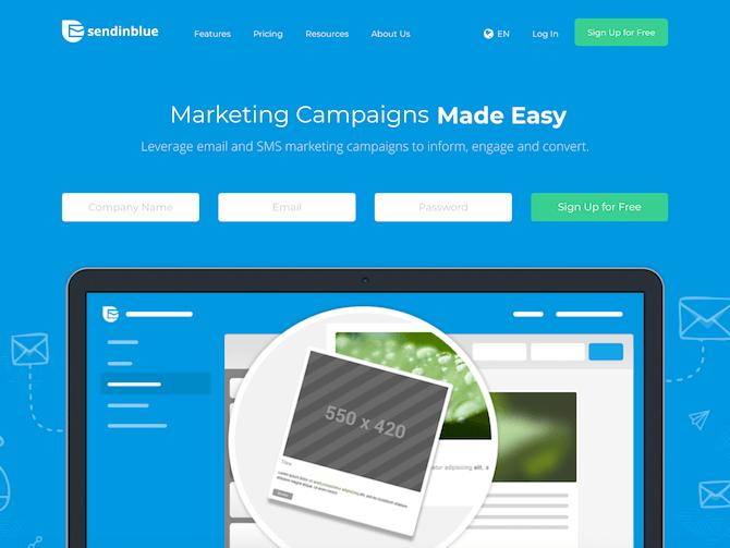 Sendinblue - cheapest email marketing service