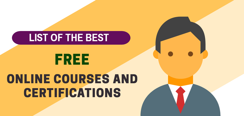 best free online courses with certificates