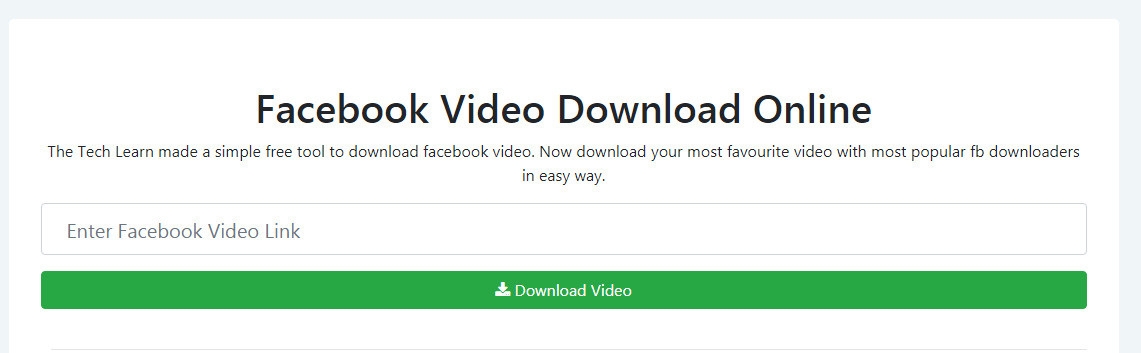Facebook Video Download Free