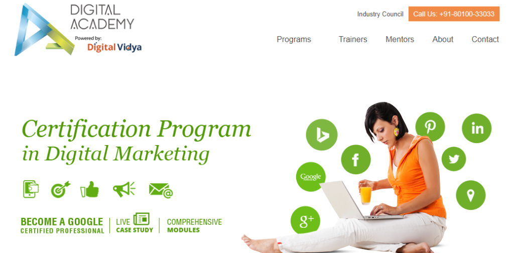 Digital Academy India - 4th best digital marketing institute in delhi